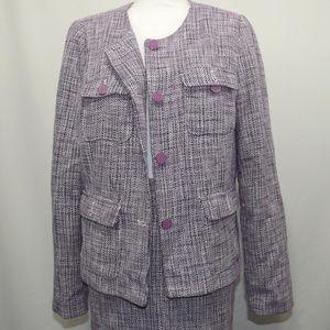 Premise Womens 14 Purple Tweed 2 piece suit Tweed